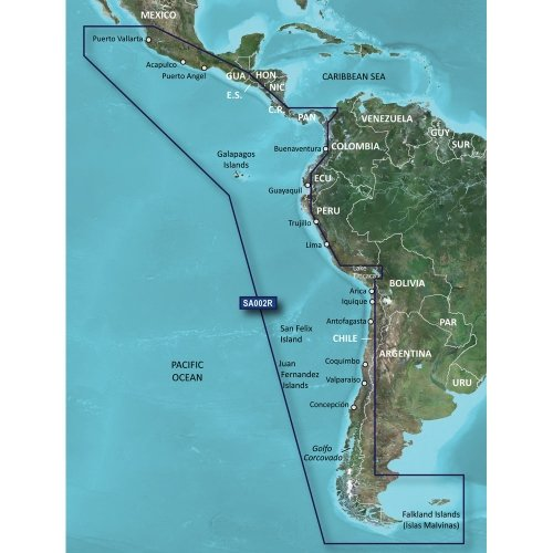 GARMIN 010-C1063-20 / Garmin BlueChart G2 HXSA002R South America West Coast (Bluechart Map)
