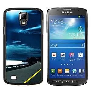 Carretera Cielo Negro- Metal de aluminio y de plástico duro Caja del teléfono - Negro - Samsung i9295 Galaxy S4 Active / i537 (NOT S4)