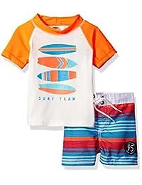 OshKosh baby-boys Baby Infant Surf Team Rash Guard Set