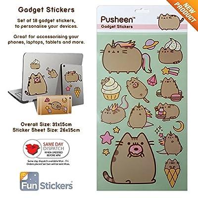 Pusheen Gadget Decal Stickers: Kitchen & Dining