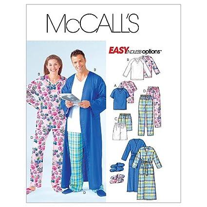 McCalls M4320 - Patrón de costura para confeccionar pijamas de hombre y mujer (varios modelos