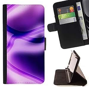 Momo Phone Case / Flip Funda de Cuero Case Cover - Abstract Purple - Samsung Galaxy Note 4 IV