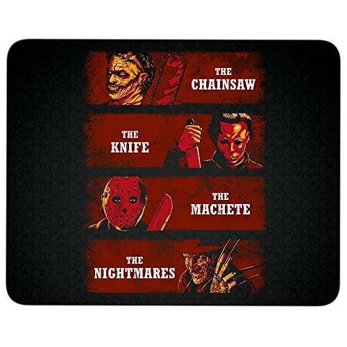 (The Chainsaw The Knife The Machete Non-Slip Rubber Base Mousepad for Laptop, Computer & PC, A Nightmares On Elm Street Mouse Pad(Mouse Pad -)