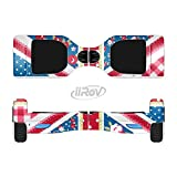 The Fun Styled Vector London England Flag Full-Body Wrap Skin Kit for the iiRov HoverBoards and other Scooter (HOVERBOARD NOT INCLUDED)