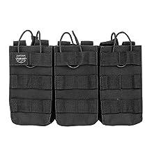 Valken 81990 Tactical MOLLE M4 Magazine Pouch AR Triple-black