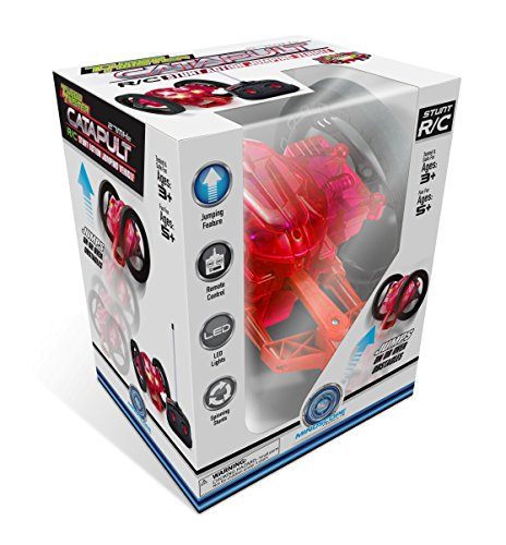 Mindscope Turbo Twister Catapult Jumping Remote Control RC Light Up LED Stunt Action Vehicle RED (27 Mhz)