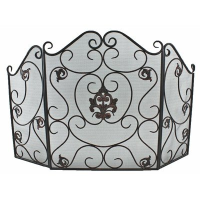 ASPIRE Angela Metal Fire Screen, Black