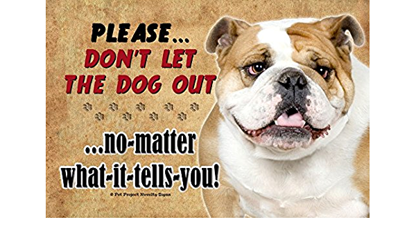 """Plaque 5.5/""""x8 Dogs Make Me Happy You Not So Much Wooden Sign English Bulldog"""