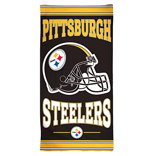 NFL Pittsburgh Steelers Fiber Beach Towel, 30 x 60-Inch (Steelers Towel Bath)