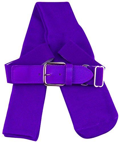TCK Sports Youth Baseball Socks and Belt Combo Set (Purple, Small) ()