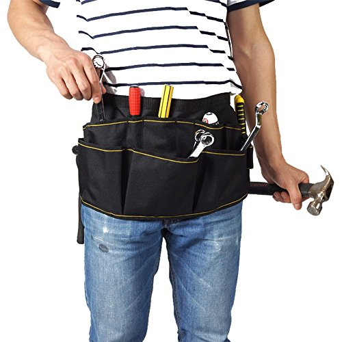 MyLifeUNIT Electrician Tool Belt, Electrician Tool Pouch Belt with Pockets, 12 Compartments by MyLifeUNIT