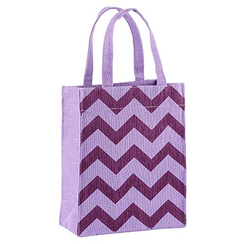 Illumen Fabric Gift Bags and Reusable Gift Bags, Free Greeting Cards, 1 Pack, Handmade, Eco Friendly Tote Bags, 11 Patterns, Medium Size (7.75 x 9.5 x 3.75 inches)