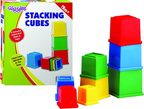 Funskool Giggles Stacking Cubes, Multi Color product image