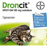 Bayer - Droncit Spot-On Cat Tapeworm 0.5 Ml x 4 Tubes