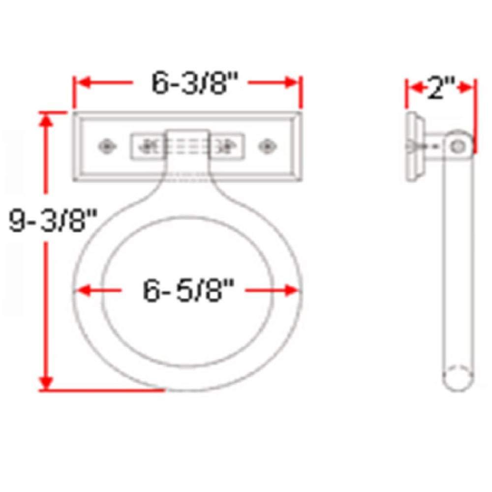 Honey Oak Finish Design House 561191 Dalton Towel Ring