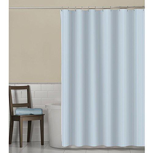 MAYTEX Seersucker Stripe Fabric Shower Curtain, Aqua, 70 X 72 Inch, Striped