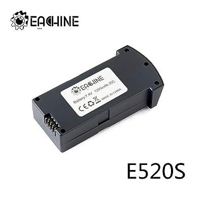 EACHINE E520S RC Drone Quadcopter Spare Parts 7.4V 1200MAH LiPo Battery 1 Pcs: Home Audio & Theater [5Bkhe1404803]