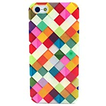 For iphone 6 case ,iphone 6S case,Let it be Free Colorful Square Rhombus Clear Edge TPU Soft Case Rubber Silicone Skin Cover for iphone 6 4.7 Inch (Not for iphone6 Plus)-Colorful Grid