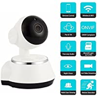Camecho 2.4ghz Wireless Security Camera System - 720P HD Video Smart Cloud Wifi IP Camera Night Vision 2 Way Audio Recording Streamed On Smart Devices - Surveillance Nanny Cam / Pet Cam