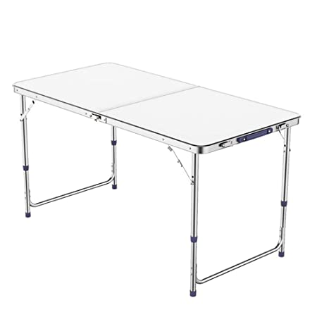 Kimmyer Mesa Plegable de Aluminio Altura Ajustable y asa de ...