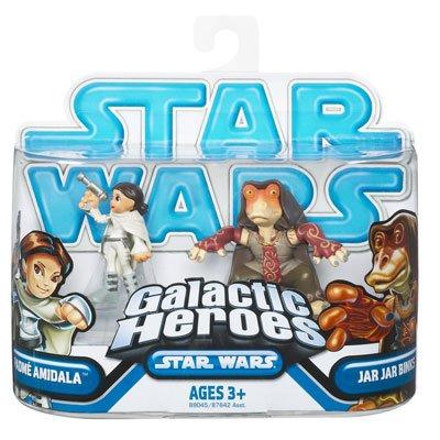 Star Wars 2009 Galactic Heroes 2-Pack Padme and Jar Jar Binks