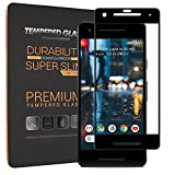Google Pixel 2 Screen Protector Tempered Glass 3D Curved with Dot Matrix for Google Pixel 2 [ Full Coverage ] [ Edge to Edge ] 2.5D Arc Edges 9 Hardness HD Anti-Scratch