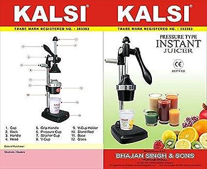 KALSI Manual exprimidor handpress Manual exprimidor exprimidor de naranja, Granada
