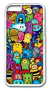 Cute Monsters Custom iphone 6 4.7inch Case Cover Polycarbonate Transparent by Maris's Diaryby Maris's Diary