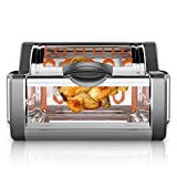 NutriChef PKRTVG65BK Digital Countertop Rotisserie & Grill Oven - Rotating Kitchen Cooker