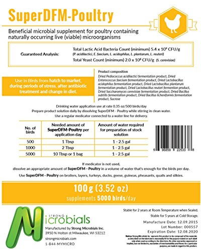 SuperDFM-Poultry 100g, Set of 10 bags by SuperDFM