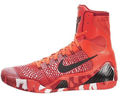 (Nike Kobe IX 9 Elite Strategy Knit Stocking 630847-600 Crimson Flyknit Men's Shoes (Size 10))