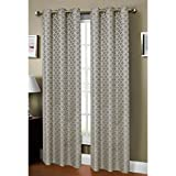 Window Elements Sonata Faux-Linen Jacquard Extra Wide 54 x 84 in. Grommet Curtain Panel, Grey
