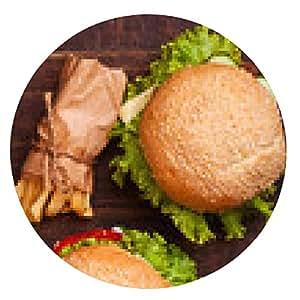 alfombrilla de ratón hamburguesa - ronda - 20cm