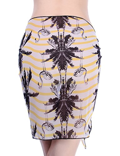 Sexy Pareo Vacanza Beachwear Donne Copricostume Giallo Vestito Pianura Sciarpa Chiffon Costume Pareo Nuotando EMMA Wrap Morbida Coprire AT87Y7q
