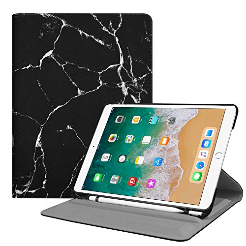 Fintie Case with Built-in Pencil Holder for iPad Air 10.5 (3rd Gen) 2019 / iPad Pro 10.5 2017- Multiple Angles Stand Protective Cover with Auto Sleep/Wake Feature, Marble Black