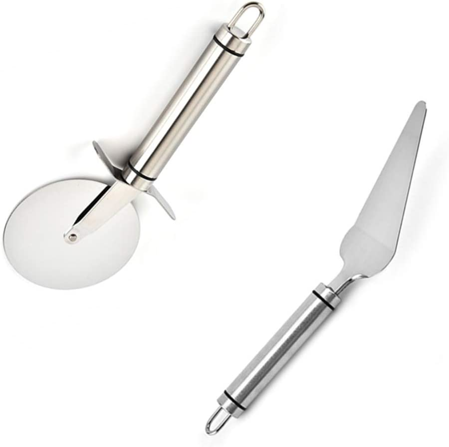 Pizza Baking Tool Kit,Pizza Cutter Wheel,Stainless Steel Cutter and Shovel for Pizza,Pie,Cake,Biscuits and more