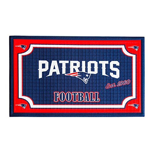 Team Sports America 41EM3818B New England Patriots Embossed Door - Floor New England Patriots Mat