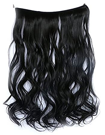 Amazon swacc straightcurly halo wire hidden hairpiece flip swacc straightcurly halo wire hidden hairpiece flip synthetic hair extensions no clip ins 80g pmusecretfo Choice Image