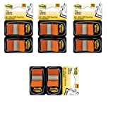 Post-it Flags, 1 inch, Orange Two Dispensers of 50 Flags, 4 Pack (680-OE2)