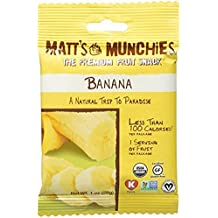 Matt's Munchies The Premium Fruit Snack Banana 1 Oz. Pack Of 3.
