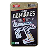Ideal Whoa Double 9 Color Dot Dominoes