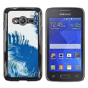 Be Good Phone Accessory // Dura Cáscara cubierta Protectora Caso Carcasa Funda de Protección para Samsung Galaxy Ace 4 G313 SM-G313F // Palm Reflection Tropical Summer Blue