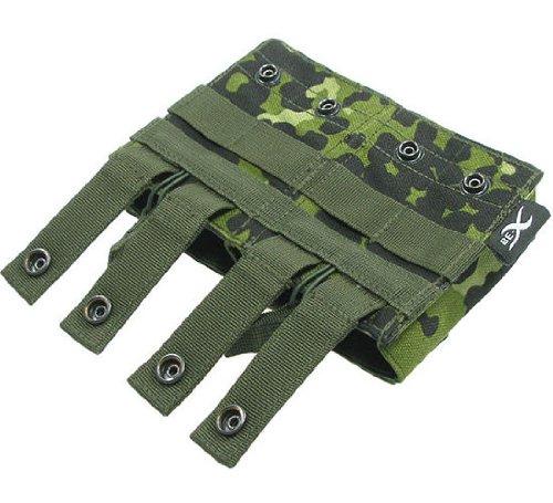 BE-X Offene Magazintasche für CQB, für MOLLE, für 2 G3/M14 Magazine - dänisch tarn