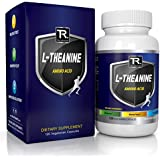 NATURAL L-Theanine 200mg (Double-Strength) - 120 Vegetarian Capsules -100% Non GMO - Best Rated For Stress Relief - Focus - And Relaxation | 100% Money Back Guarantee