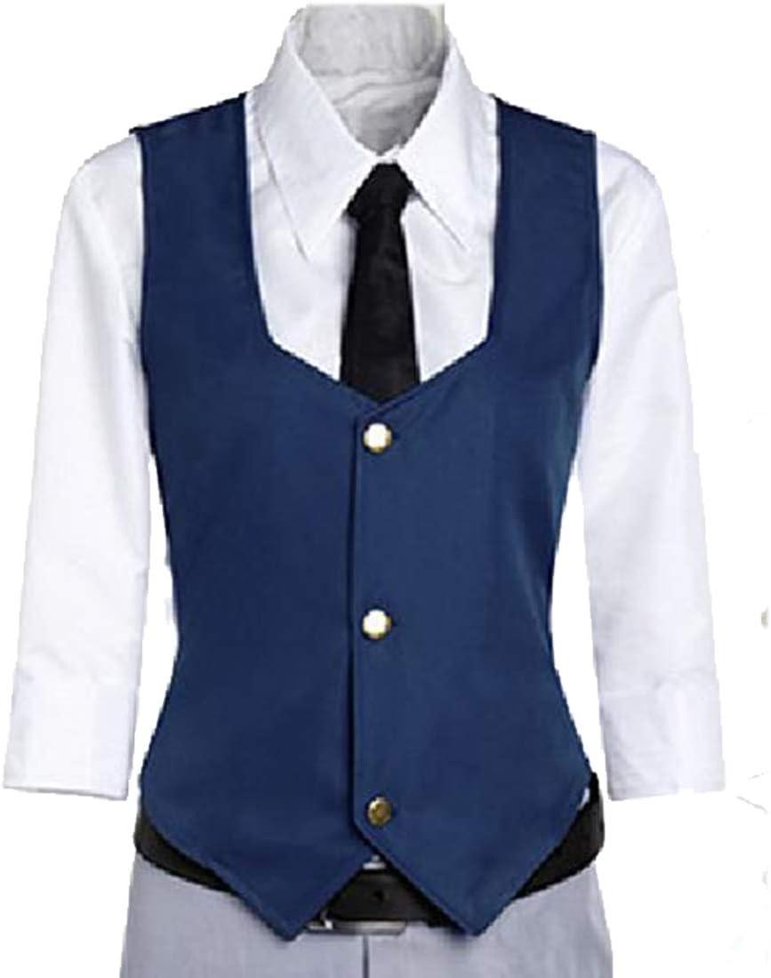YKJ Disfraz de Cosplay de Anime Chaqueta Azul Camisa Blanca y pantalón Conjunto Completo de Fiesta,Full Set-XL: Amazon.es: Hogar