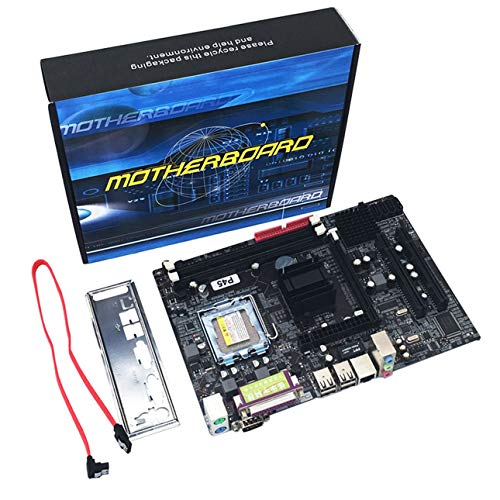 Liobaba Professional Mainboard P45 Socket LGA 771 DDR3 Memory 8GB Computer Motherboard Support Xeon CPU 6-Channel Audio Chip ()