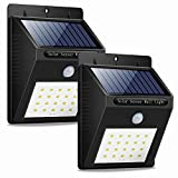 Solar Lights Outdoor, Solar Sensor Lights 20 Led Solar Lights Motion Sensor Outdoor Solar Lights for Fence, Wall, Patio, Deck, Step (2) For Sale
