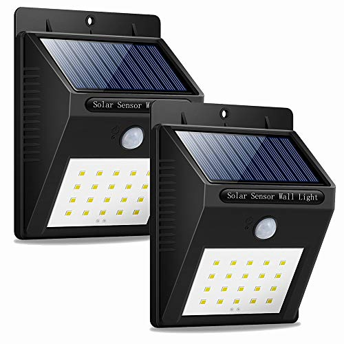 Solar Lights Outdoor, Solar Sensor Lights 20 Led Solar Lights Motion Sensor Outdoor Solar Lights for Fence, Wall, Patio, Deck, Step (2)