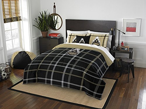 "Purdue Boilermakers - 3 Piece FULL Size Embroidered Comforter Set - Entire Set Includes: 1 Full Comforter (76""x86"") & 2 Pillow Shams (Pillow Purdue Boilermakers Soft)"