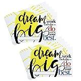 Teacher Peach 'Dream Big' Positive Postcards - Motivational Thank You Notes from Teachers - Classroom Teaching Supplies for Preschool, Kindergarten, or Elementary School Teachers - 50 Cards